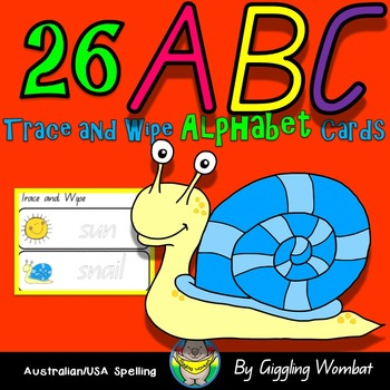 ABC Trace and Wipe Alphabet Cards