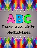 ABC Trace and Write Worksheets