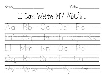 Abc Tracing Worksheets Teaching Resources Teachers Pay Teachers