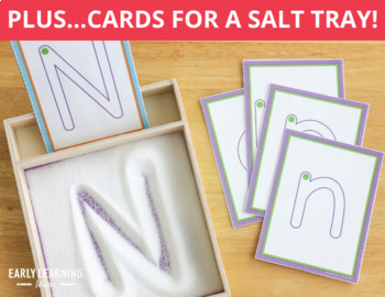 Alphabet Tracing Cards: Letter Practice Cards for Preschool and ECE