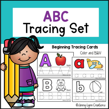 ABC Tracing Cards- Beginner Version