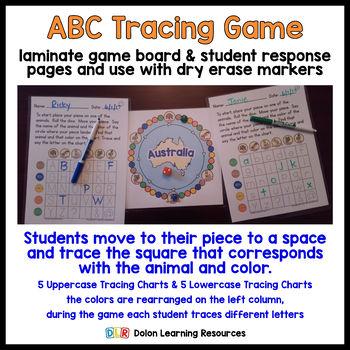 ABC Tracing Game Australia
