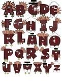 ABC Turkey Clip Art - Thanksgiving - November
