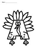 ABC Turkeys Printable Color Sheets