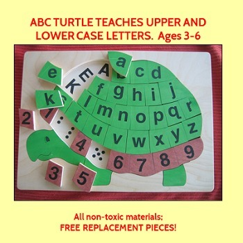 ABC Turtle-Handcrafted Wooden Puzzle