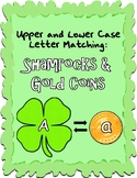 Upper and Lower Case ABC Match Game- Shamrocks and Gold Coins