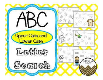 ABC Upper and Lower Case Search- No Prep!