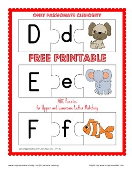 ABC Upper and Lowercase Matching Puzzles