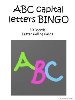 Uppercase alphabet BINGO!