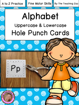 Letter Hole Puncher.Abc Uppercase Lowercase Hole Puncher Cards A To Z