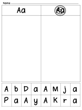 ABC Uppercase & Lowercase Identification Cut & Paste A to Z {with Fonts}