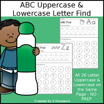 ABC Uppercase & Lowercase Letter Find