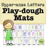 ABC Uppercase Play Dough Mats
