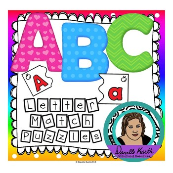 ABC Uppercase and Lowercase Letter Puzzles - With File Fol