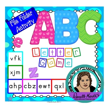 ABC Uppercase and Lowercase Letter Recognition File Folder Game