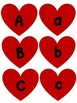 ABC Uppercase and Lowercase Matching Game - Valentine's Edition