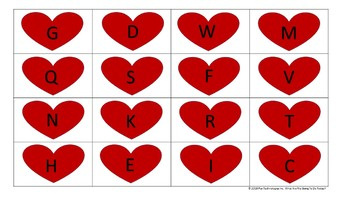 ABC  VALENTINE BINGO GAME