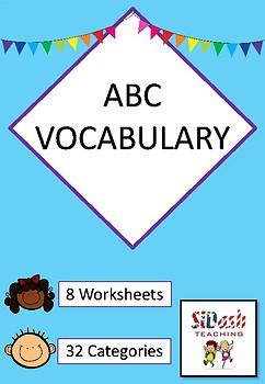 ABC VOCABULARY WORKSHEETS