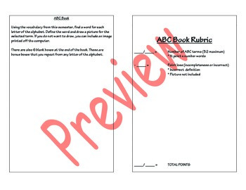ABC Vocabulary Notebook Review for all Subjects - Editable (Marzano)