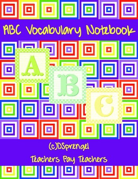 ABC Vocabulary Notebook Review for all Subjects - Editable