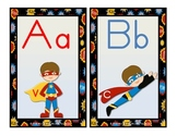 ABC WORD WALL Headers Super Hero Theme