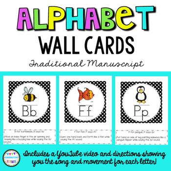 Alphabet Song and Hand Movements with Polka Dot Wall Cards