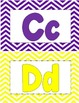 ABC Wall Display-Colorful-Chevron Background