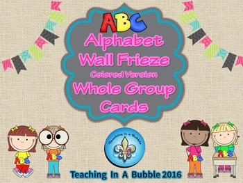 ABC Wall Frieze Color Alphabet Cards
