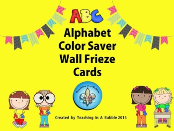 ABC Wall Frieze Color-Saver Alphabet  Display Cards