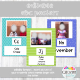 ABC Wall Posters Editable For Real Pictures (Bright Colors) ECERs