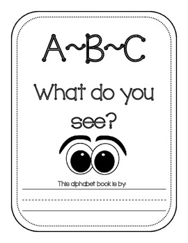 ABC What do you see? booklet