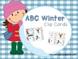 ABC Winter Clip Cards