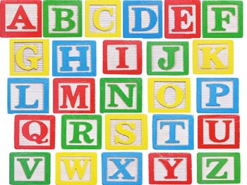 ABC Wooden Blocks Matching Activity