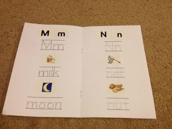 ABC Word Book for use with Lakeshore Learning Alphabet Picture Stickers