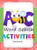 Kindergarten / First Grade - ABC Word Search
