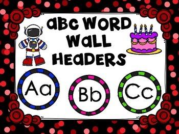ABC Word Wall Headers