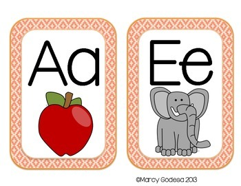 ABC Word Wall Headers {Soft Colors}