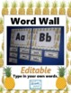 ABC Word Wall Label Headings & Ten Frames - EDITABLE word cards Pineapple Decor