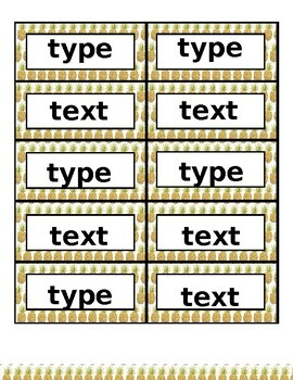 ABC Word Wall Labels & Ten Frames - EDITABLE Pineapple Decor