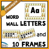 Pineapple ABC Word Wall Labels & Ten Frames - EDITABLE Decor