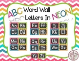 ABC Word Wall Letter in Bright Neon FREEBIE
