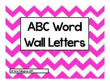 ABC Word Wall Letters