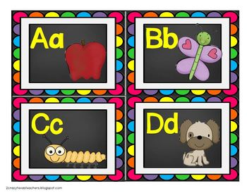 ABC Word Wall and Student Cards