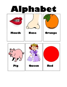 ABC Words Flash Cards
