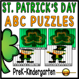 St Patrick's Day Alphabet Matching Activities: Puzzles for
