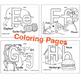 ABC Worksheet and Coloring Book. Printable Wall Art
