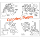 ABC Worksheet and Coloring Book. Printable Wall Art