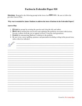 ABC Write Federalist Paper #10