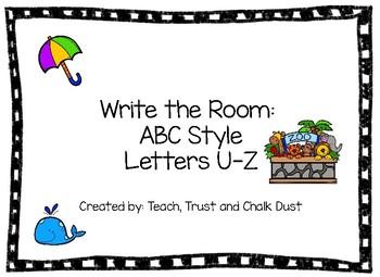 Write the Room U-Z