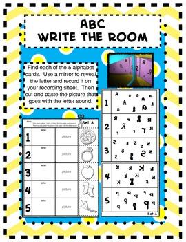 ABC Write the Room/Mirror Activity